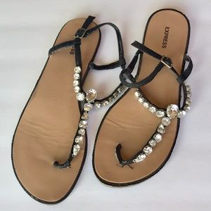 Express | rhinestone sandals